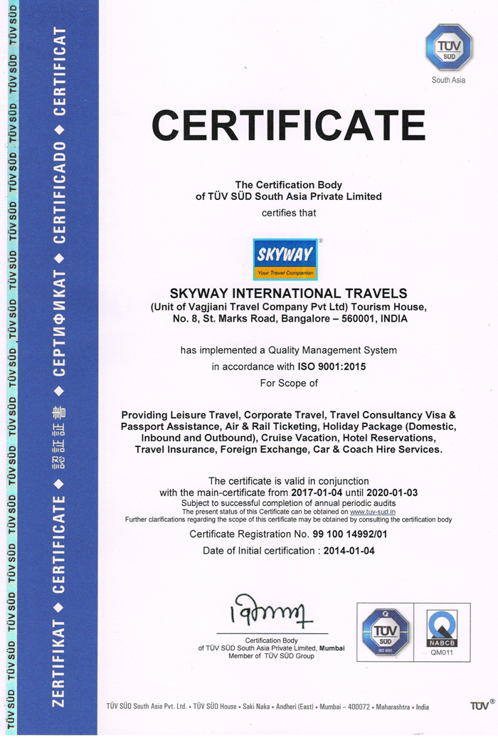 ISO-Certified | Skyway International | Devbagh Beach Resort